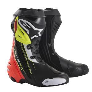 スーパーテックR ブーツ ブラック/レッド/イエローFLUO 41/26.0cm アルパインスターズ(alpinestars)|hamashoparts