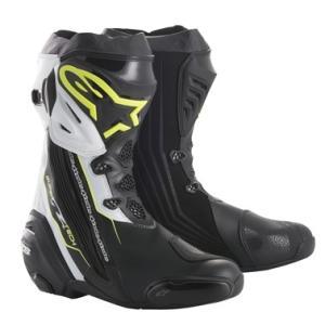 スーパーテックR ブーツ ブラック/イエローFLUO/ホワイト 41/26.0cm アルパインスターズ(alpinestars)|hamashoparts
