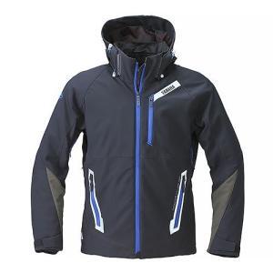 RSタイチ(TAICHI)コラボ ソフトシェルオールシーズンジャケット YAF57-R ブラック/ブルー レディースMサイズ YAMAHA(ヤマハ・ワイズギア)|hamashoparts