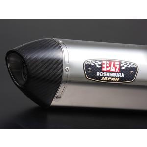 Vストローム250 スリップオンマフラー R-77S サイクロン カーボンエンド EXPORT SPEC SSC (ステンレスカバー/カーボンエンド) YOSHIMURA(ヨシムラ)|hamashoparts