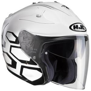 HJH122 FG-JET デュカス オープンフェイスヘルメット ホワイト S(55-56)サイズ HJC|hamashoparts