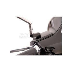 Vespa GTS125/250/300 05年〜 ミラーエクステンション(ブラック) SW-MOTECH(SWモテック)|hamashoparts