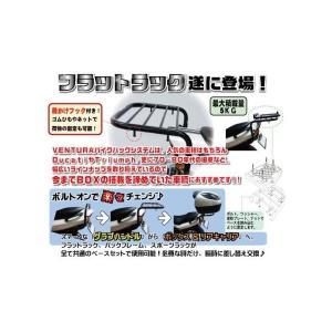 イントルーダー250(Intruder)99〜12年 フラットラック シルバー VENTURA(ベンチュラ)|hamashoparts