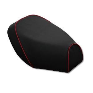 PCX125(JF56) 被せタイプ 国産シートカバー 黒/赤パイピング GRONDEMENT(グロンドマン)|hamashoparts