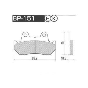エコスポーツパッド BP-151 リアディスク プロジェクトミュー(Project μ) CBX1000 年式:81年 hamashoparts