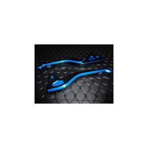KN デュアルカラーレバー (ブラック/ブルー) KN企画 リモコンJOG/ZR/ZII(SA16/5PT/5SW)・4スト JOG系 フロントdisk車輌 (3P3)※排ガス規制後JOG系) hamashoparts