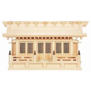 かべ掛三社 (ひのき) 横巾55×高さ32cm 【神棚】 ●お仏壇・仏具の浜屋|hamayanet