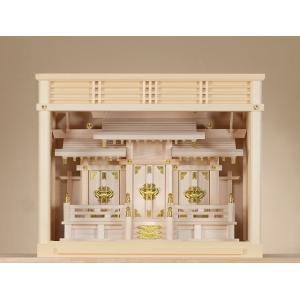ケース入三社 (ひのき) 横巾60×高さ48cm 【神棚】 ●お仏壇・仏具の浜屋|hamayanet