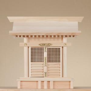 格子宮 (ひのき) 横巾42×高さ39cm 【神棚】 ●お仏壇・仏具の浜屋|hamayanet
