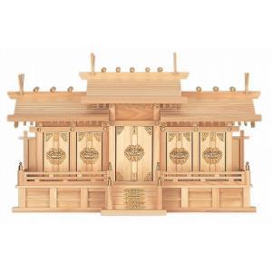 屋根違い五社・小 (ひのき) 横巾74×高さ43cm 【神棚】 ●お仏壇・仏具の浜屋|hamayanet