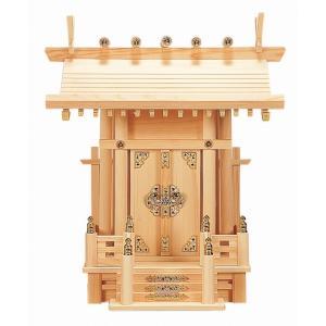 大神明丸柱付 (ひのき) 横巾39×高さ46cm 【神棚】 ●お仏壇・仏具の浜屋|hamayanet