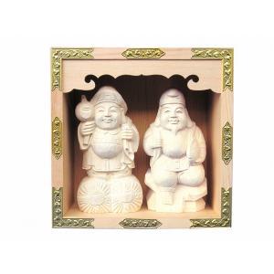 一升マス 恵比寿大黒セット 横巾17cm 【神具】 ●お仏壇・仏具の浜屋|hamayanet
