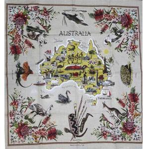コアラ&野鳥テーブルクロス 海外 土産 貴重 セール 大量 仕入れ インバウンド プレゼント 景品|hamazoku