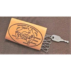 カンガルー革キーケース 海外 土産 貴重 セール 大量 仕入れ インバウンド プレゼント 景品|hamazoku