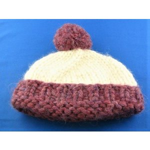 子供用カウチン帽子 羊毛 セーター ジャケット 暖かい 世界に1つ カナダ ウール 手編み|hamazoku