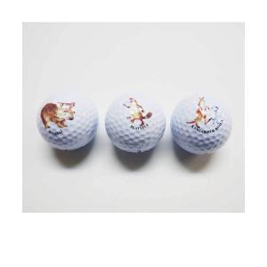 アニマル柄ゴルフボール(3個セット) 海外 土産 貴重 セール 大量 仕入れ インバウンド プレゼント 景品 hamazoku