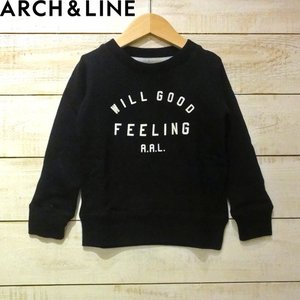 【ARCH&LINE】SALT TERRY FEELING PO トレーナー  BLACK お洒落な...