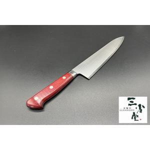 牛刀 高村刃物製作所製 粉末ハイス鋼 三層 口金付 210mm|hamono-sanshodo
