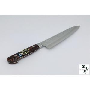牛刀 DPゴールド鋼 積層 槌目 口金付 210mm|hamono-sanshodo