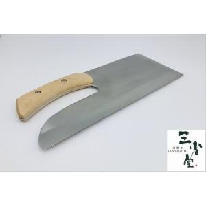 蕎麦切り包丁 白二鋼 楓柄 330mm 右利き用 |hamono-sanshodo
