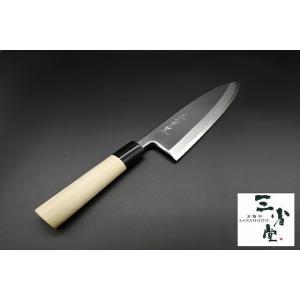 出刃 白鋼 本霞砥 丸型水牛柄 210mm|hamono-sanshodo