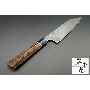 切付和三徳 関兼次 瑞雲 ダマスカス 180mm|hamono-sanshodo