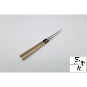 盛り箸 ステンレス 水牛柄 120mm|hamono-sanshodo