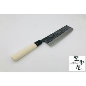 菜切り 青紙 黒打ち プラ柄 180mm|hamono-sanshodo