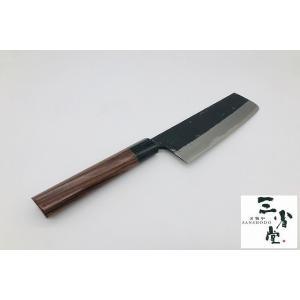 菜切り 青紙スーパー 黒打ち ウエンツ柄 180mm|hamono-sanshodo