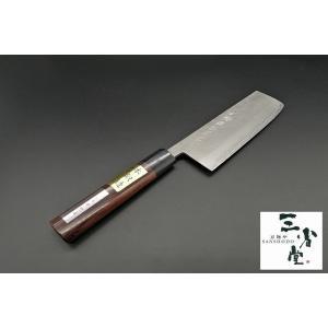 菜切り 誠光作 梨地 DPゴールド 紫檀柄 165mm|hamono-sanshodo