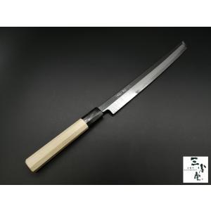 刺身 先丸 剣型 白鋼 本霞砥 八角水牛柄 270mm|hamono-sanshodo