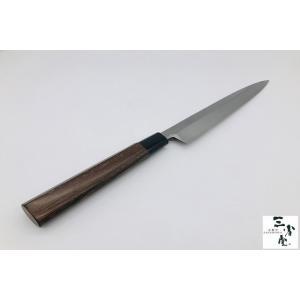 刺身 白二鋼 本霞研 黒檀水牛柄 240mm|hamono-sanshodo