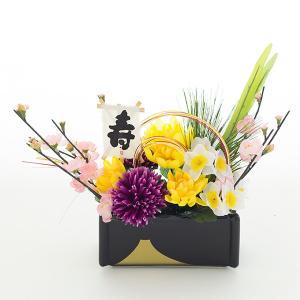 お正月 正月用フラワーアレンジメント 造花 アートフラワー...
