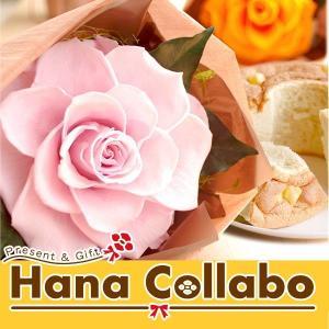 プリザーブドフラワー 誕生日プレゼント 花とスイーツギフト|hana-collabo