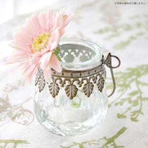 フラワーベース 花瓶 ガラスとスチールのおしゃれなフラワーベース デイビス・ヨークベース|hana-kazaru
