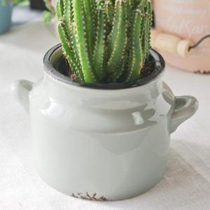 鉢カバー フラワーベース 花瓶 おしゃれな陶器のカラフルプチヴィッセル グレー|hana-kazaru