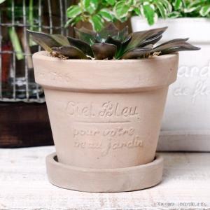 プランター おしゃれ 植木鉢 素焼きのナチュラルプランター ラウンド ミニ 約3.5号|hana-kazaru