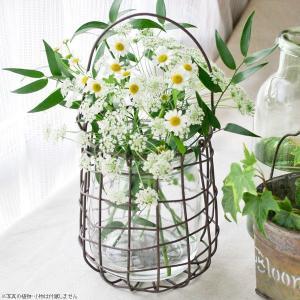 フラワーベース 花瓶 ローマンワイヤーフラワーベース|hana-kazaru