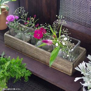 フラワーベース 花瓶 ガラス オータンウッド 3CUP|hana-kazaru