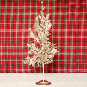 クリスマスツリー 造花 エレガント・ゴールドXmasツリー|hana-kazaru