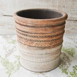 プランター おしゃれ 植木鉢 陶器 リライフラインプランター Lサイズ 6.5号単品 hana-kazaru