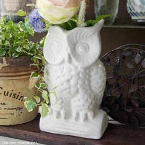 フラワーベース 花瓶 オウルフラワーベース|hana-kazaru