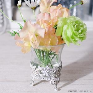 フラワーベース 花瓶 ガラス ホワイトローズガラスベース|hana-kazaru
