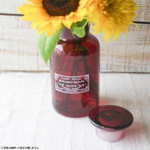 フラワーベース 花瓶 ガラス メディスンボトル 赤|hana-kazaru