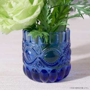 フラワーベース 花瓶 ガラス コバルトミニベース|hana-kazaru