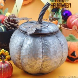 ハロウィン 鉢カバー ブリキ パンプキン・ブリキポット|hana-kazaru