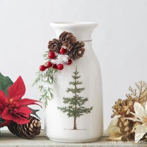 フラワーベース 花瓶 陶器 クリスマスドローツリーポット|hana-kazaru