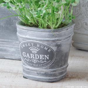 プランター おしゃれ 植木鉢 セメント鉢 スイートホームガーデンミニポット 約W8×D8×H8.5cm|hana-kazaru