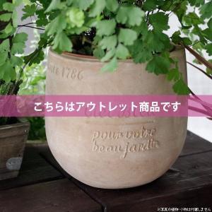 アウトレット 訳あり プランター おしゃれ 植木鉢 素焼きのナチュラルプランター POT S 4.5号|hana-kazaru