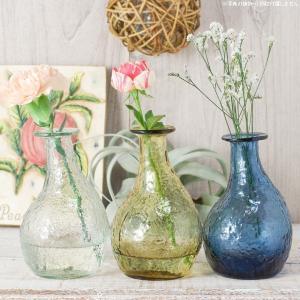 フラワーベース 花瓶 ハンドメイドガラスフラワーベース C|hana-kazaru